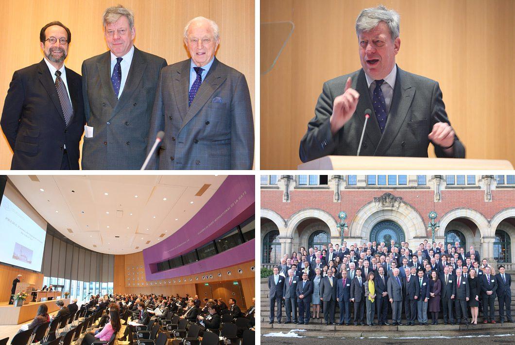 congresfotografie in het Vredespaleis te Den Haag