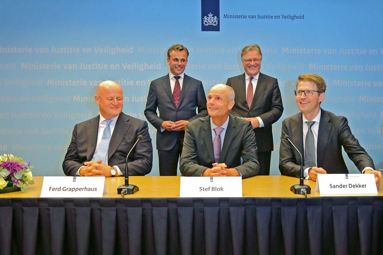 Persfotografie Den Haag, ministerie van VenJ