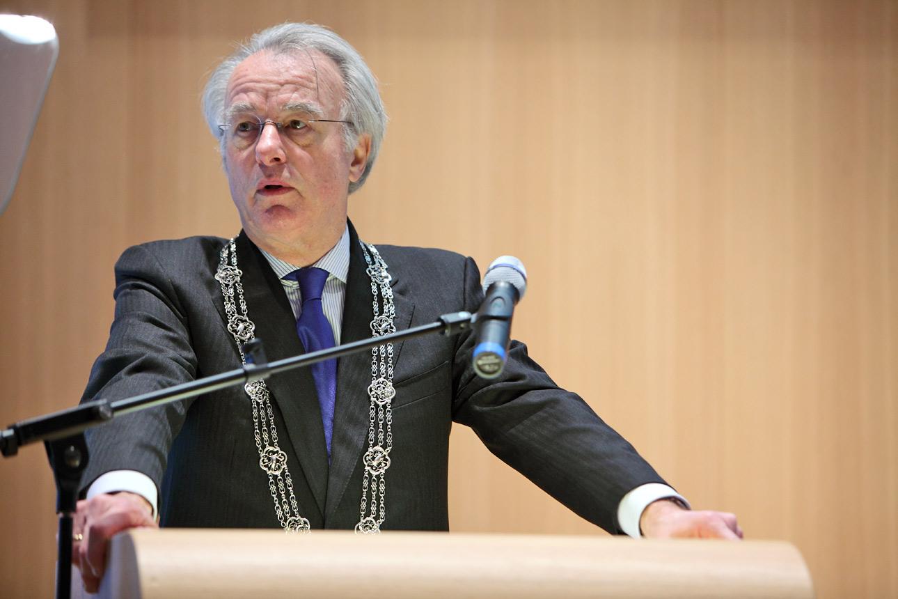 fotografie Burgemeester tijdens congres