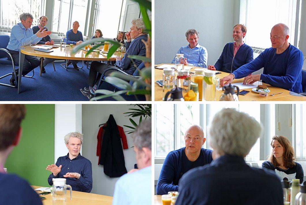 Fotografie tijdens een vergadering op kantoor