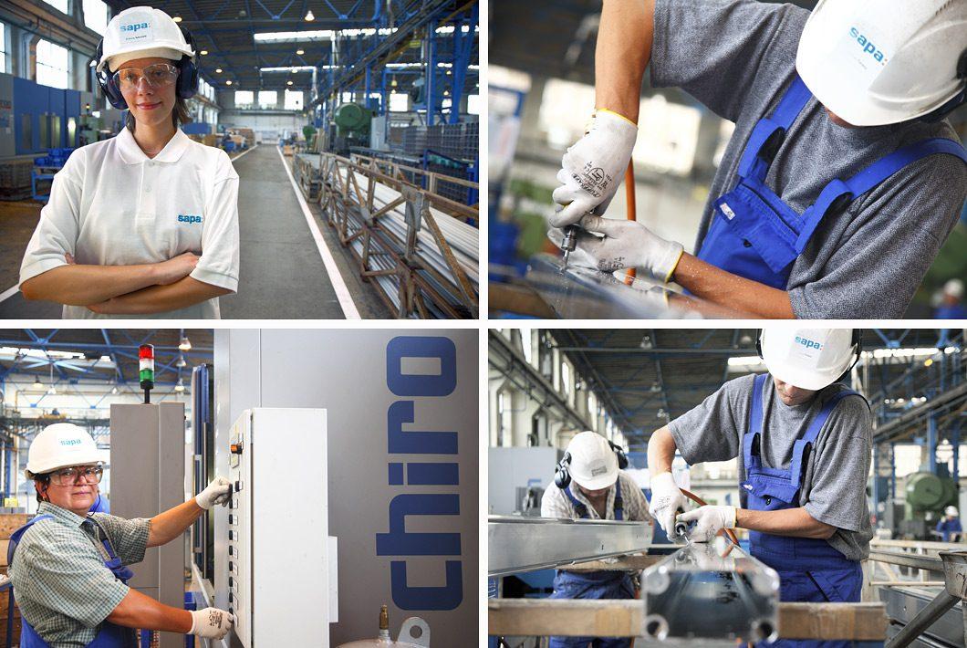 fotoreportage van fabrieksmedewerkers door bedrijfsfotograaf