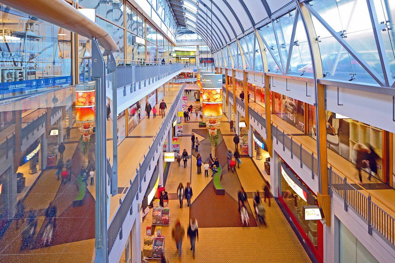 interieur winkelcentrum Den Haag