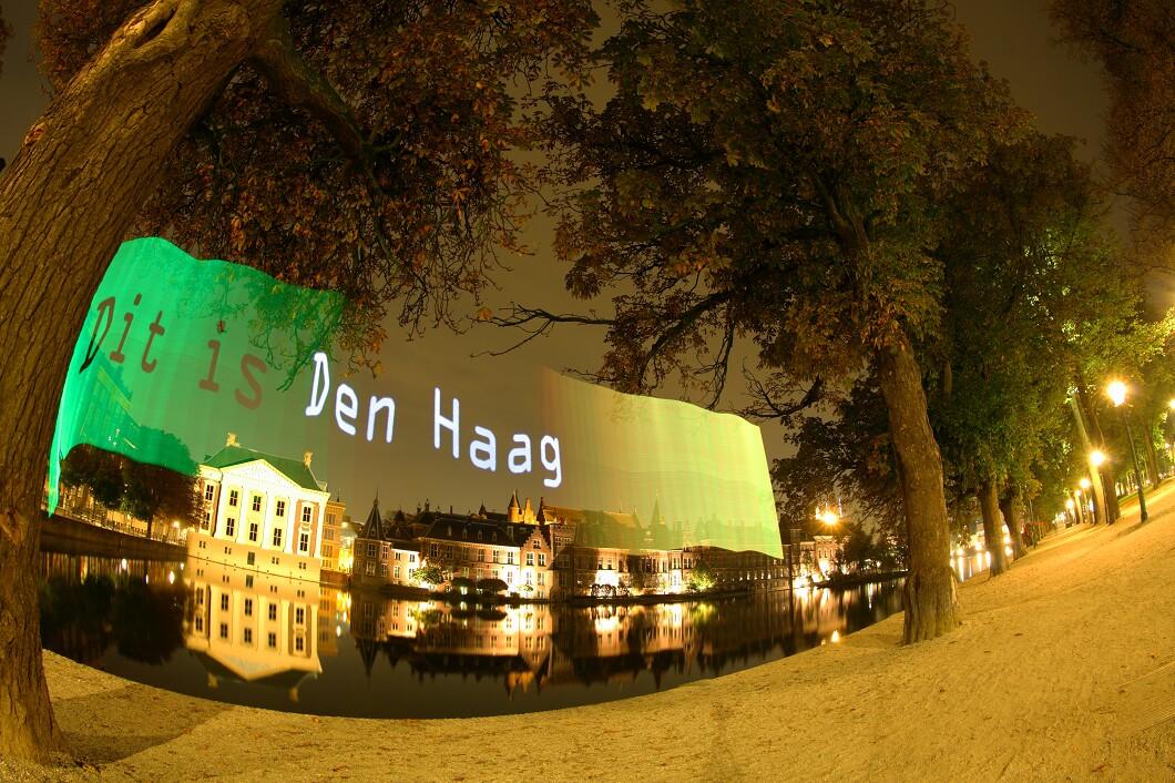 Pixelstick fotografie van fotograaf Wilmar Dik te Den Haag