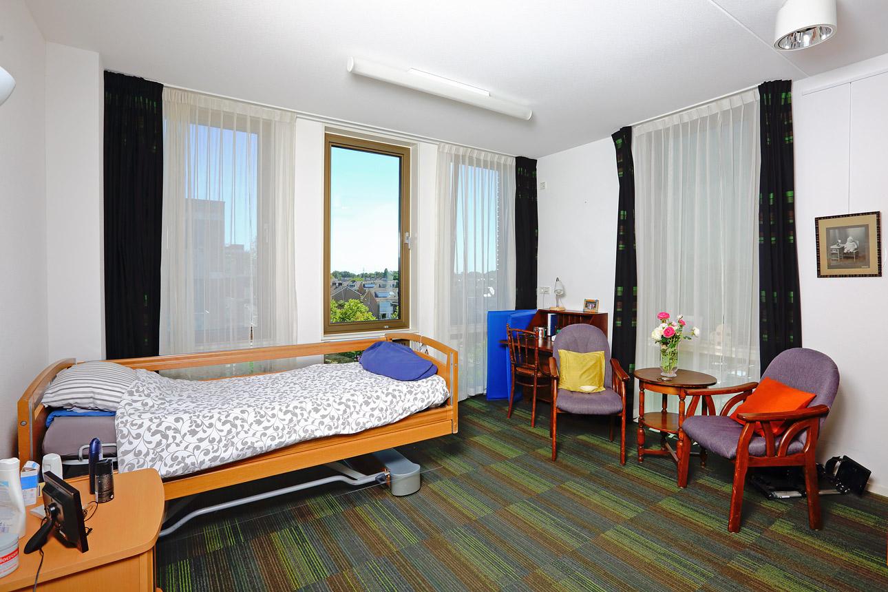 interieur fotografie slaapkamer in de zorg