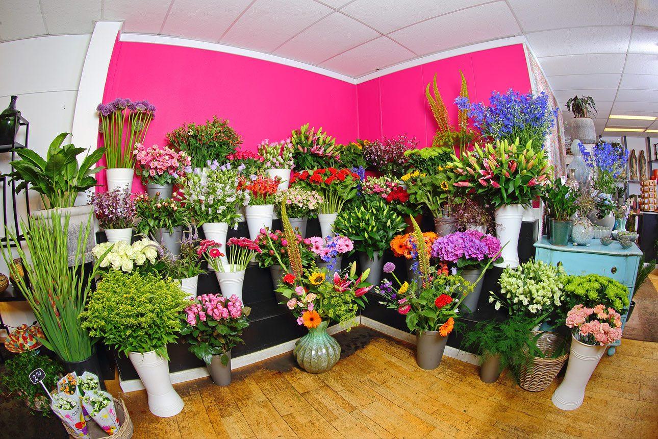 Reclame fotografie van interieur bloemenwinkel