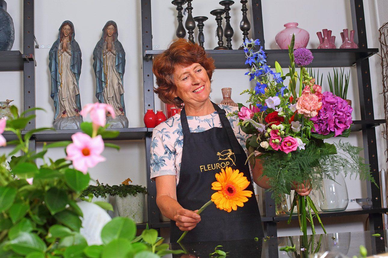 Reclame fotografie van bloemenwinkel