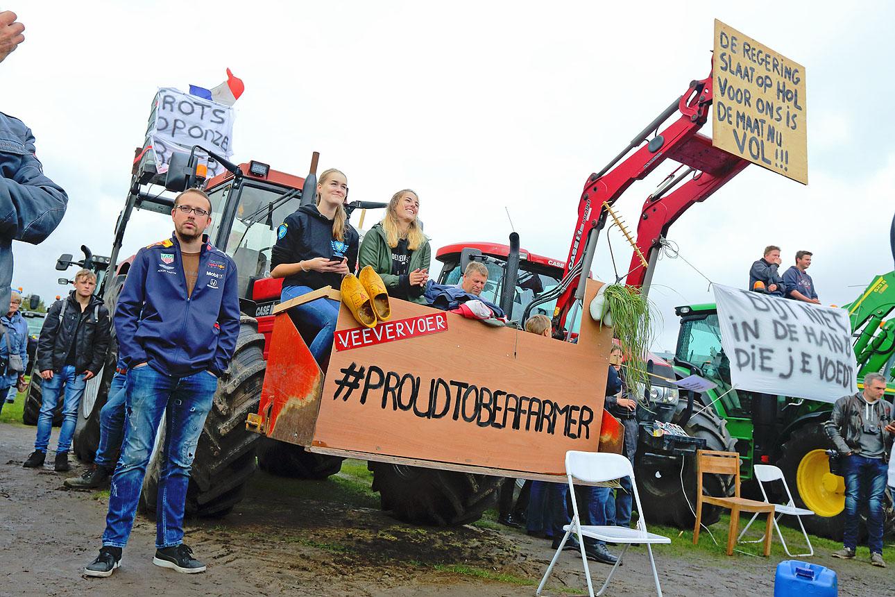 10.000 boeren aanwezig op het Malieveld te Den Haag