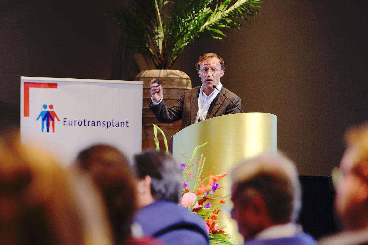 Foto van spreker tijdens congres