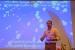 foto van een spreker op een congres