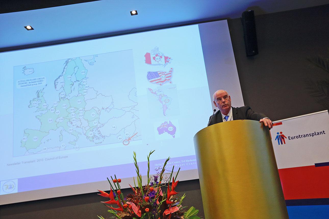 foto van een presentatie op een congres