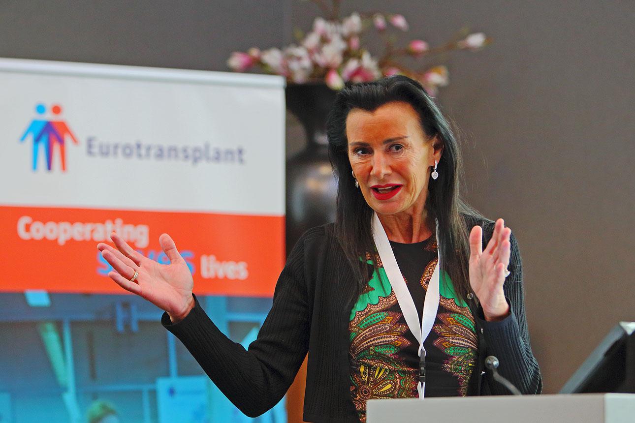 Foto van een expert tijdens een congres