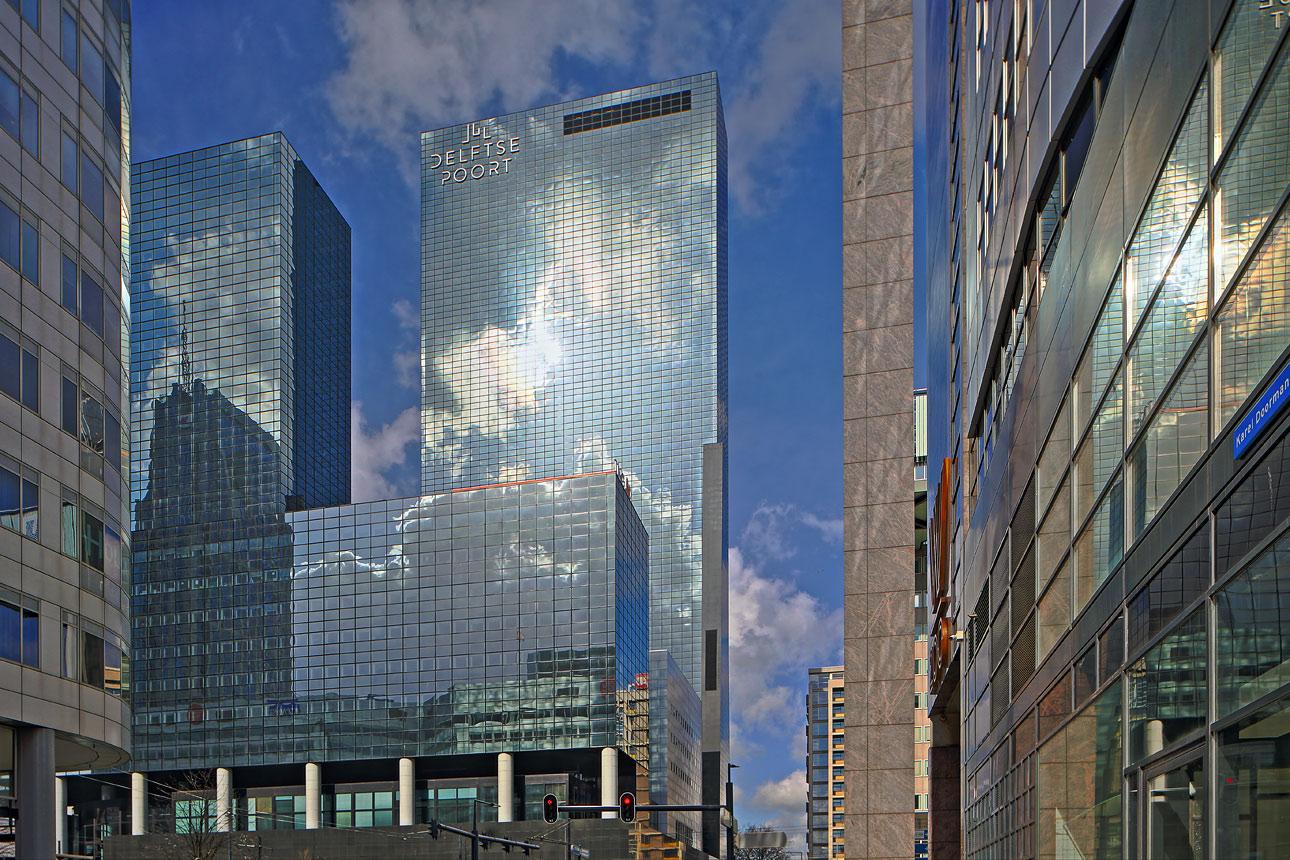 Tilt shift foto Rotterdam