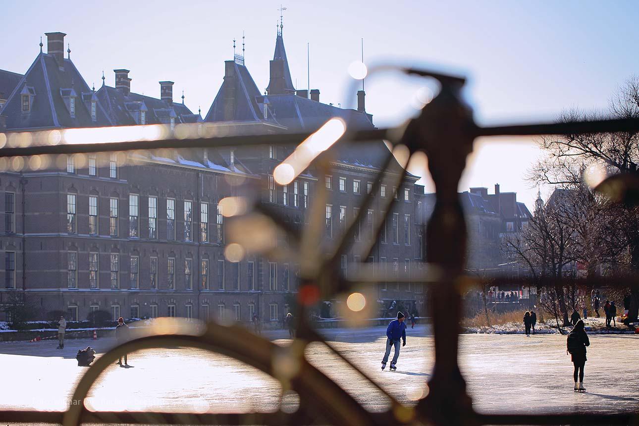 fotograaf Den Haag schaatsen op de hofvijfer