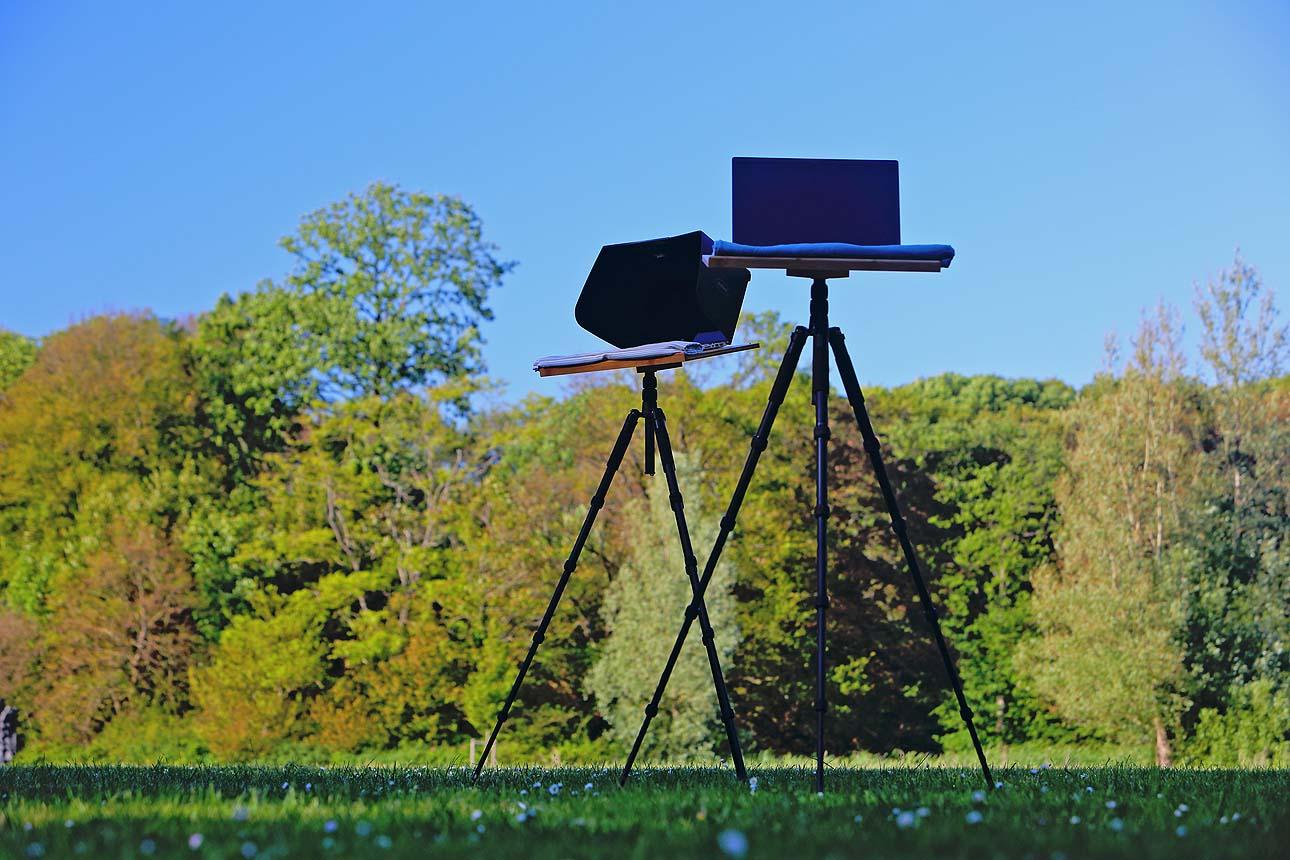 kantoor in de buiten natuur buitenkantoor fotografie