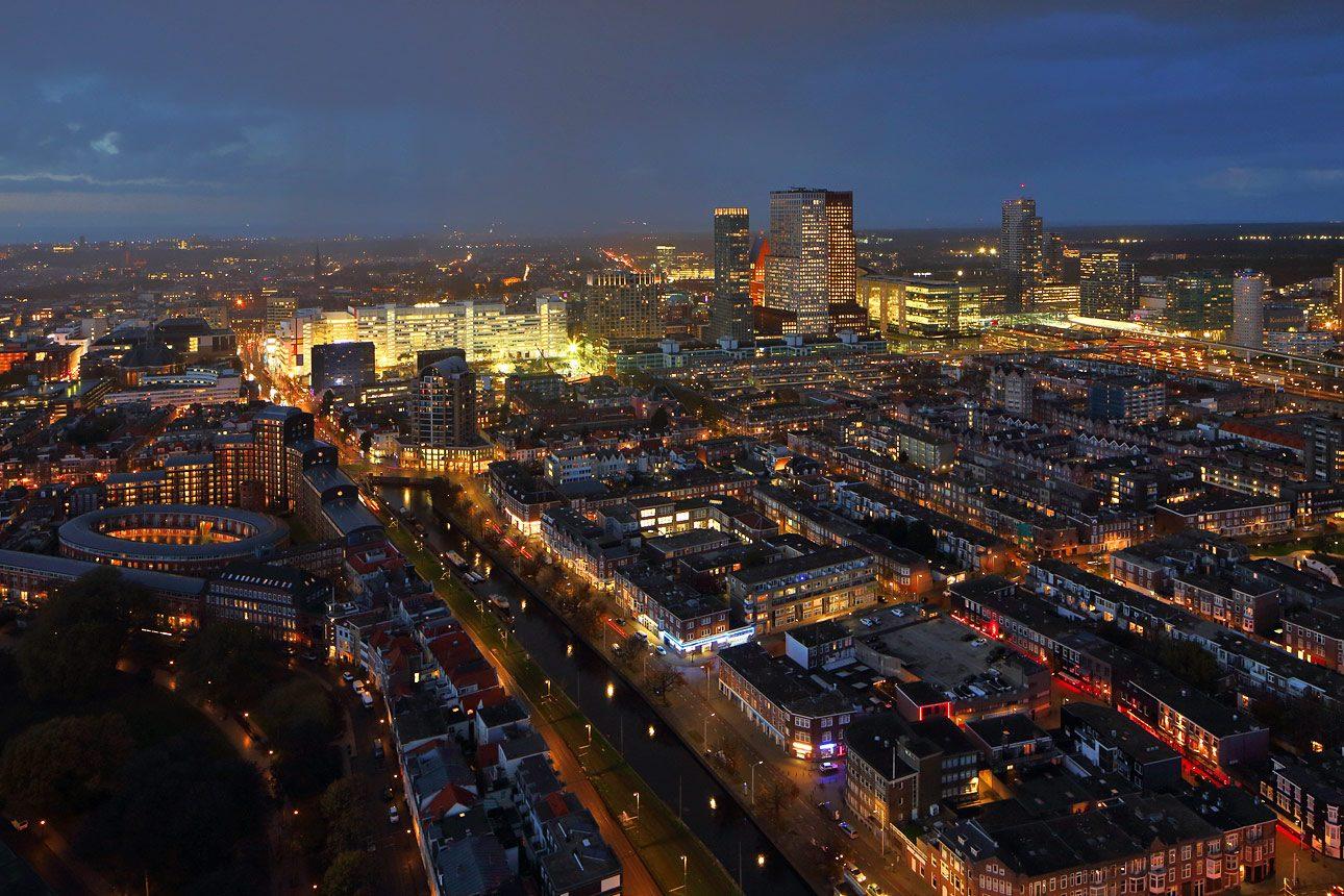 uitzicht vanaf de Haagse toren Den Haag centrum
