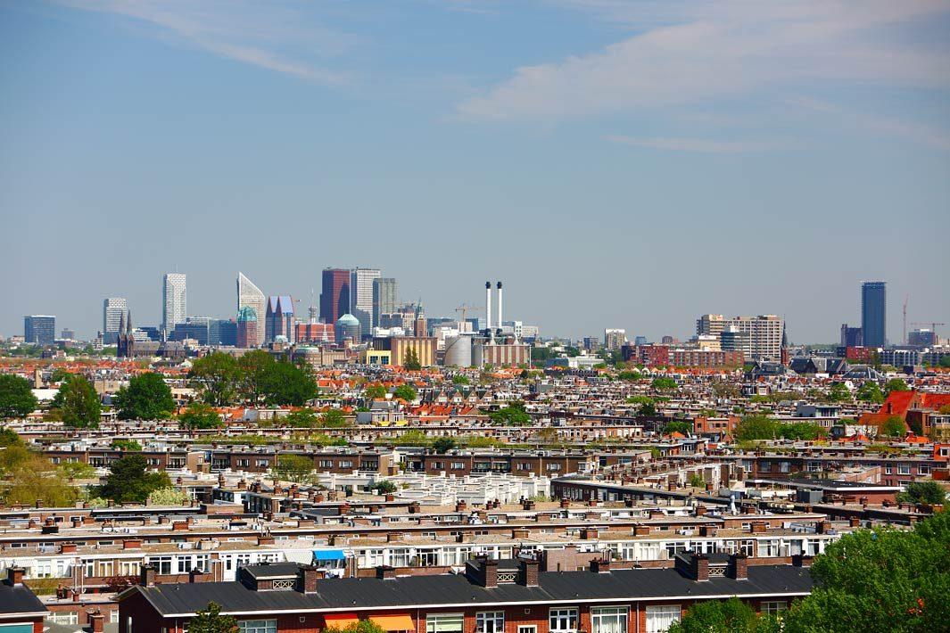 Fotografie van Den Haag, uitzicht skyline Den Haag