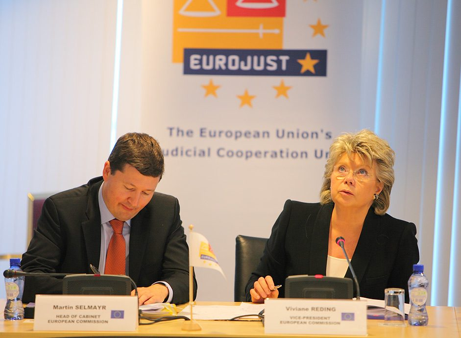 Press photography Eurojust The Hague
