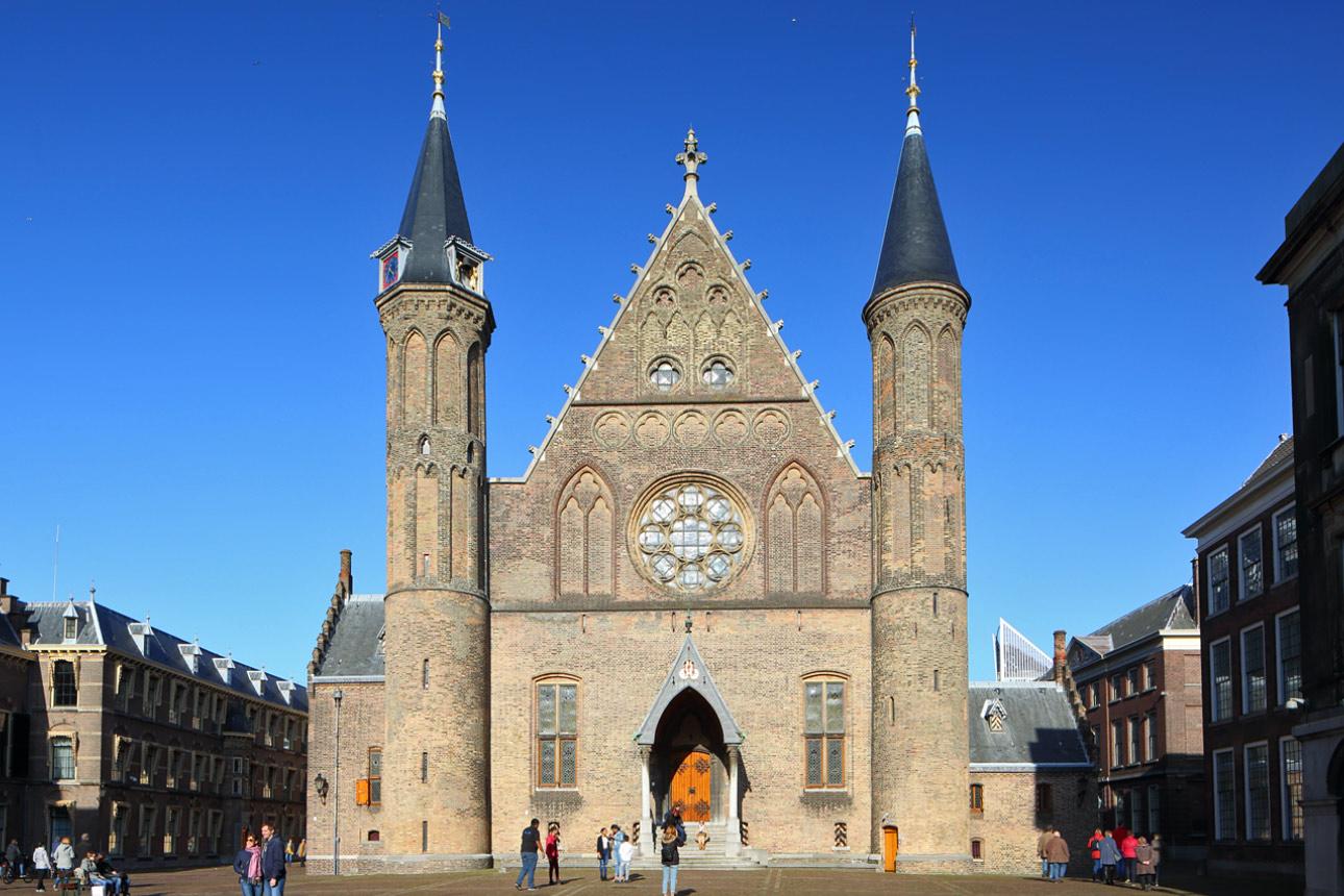 Tilt shift foto Den Haag Binnenhof