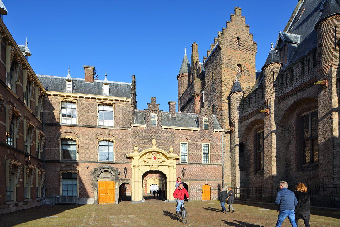 Fotografie van het Binnenhof in Den Haag