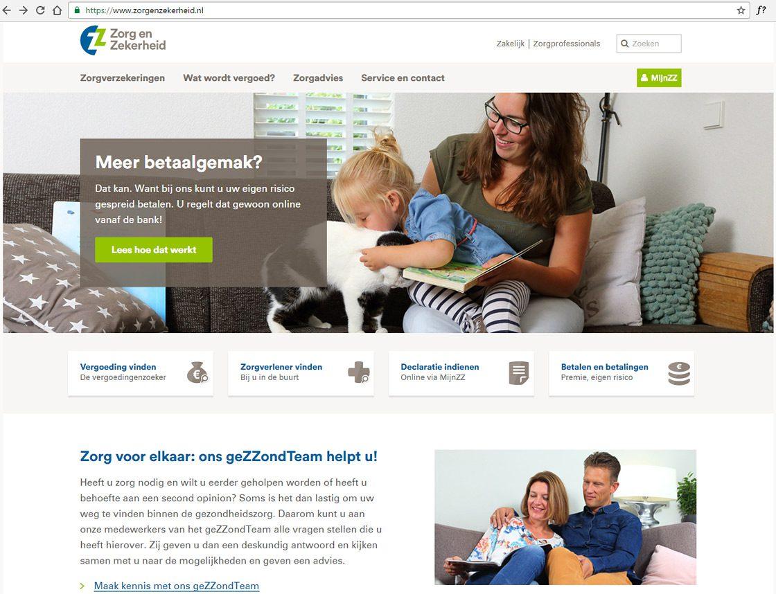 Fotografie voor website zorgverzekeraar