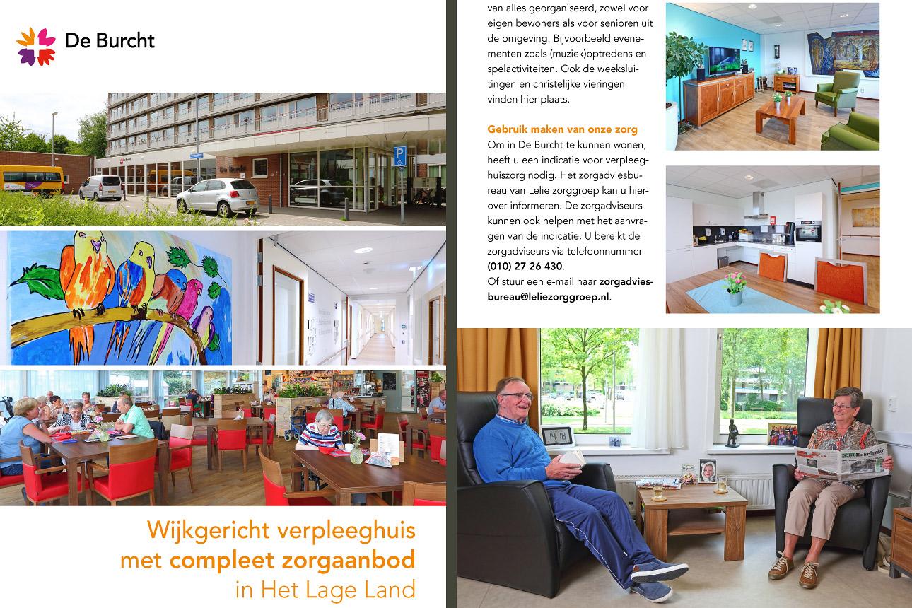 fotografie bij zorginstelling, brochure voor verpleeghuis