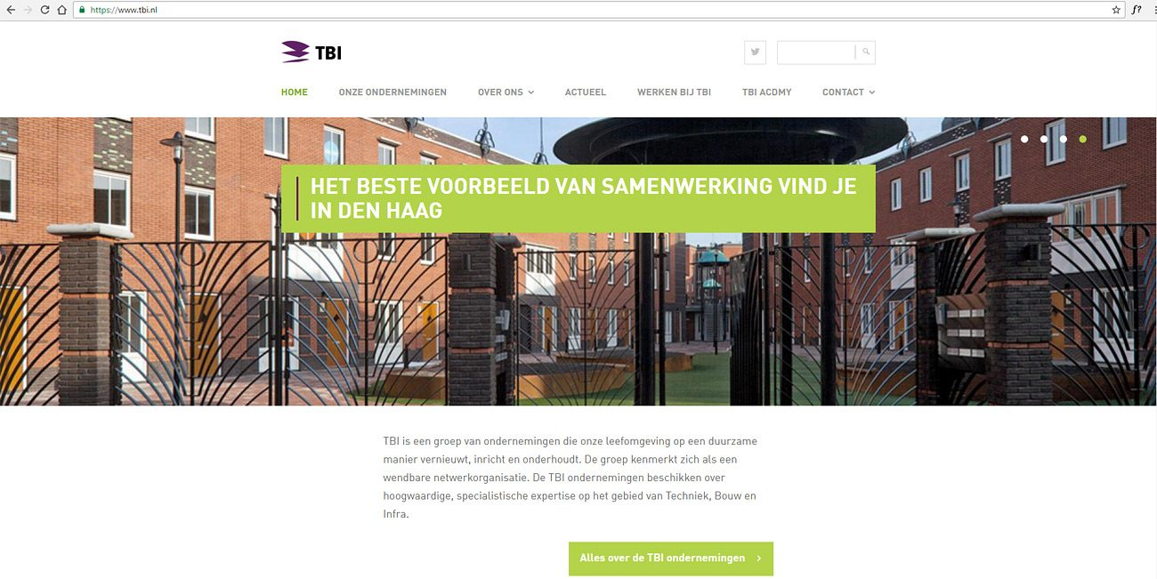 fotografie voor bouw website