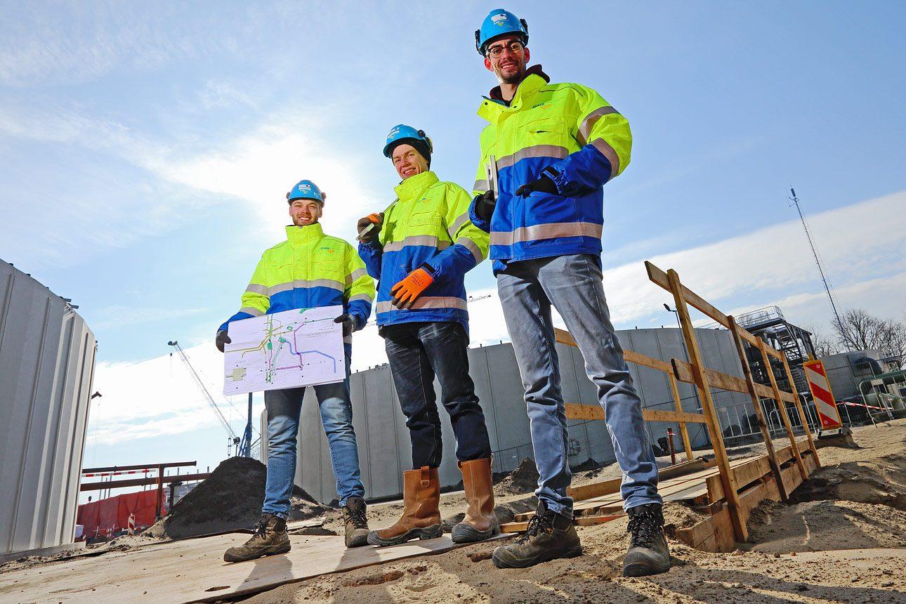 Fotografie op bouwlocatie