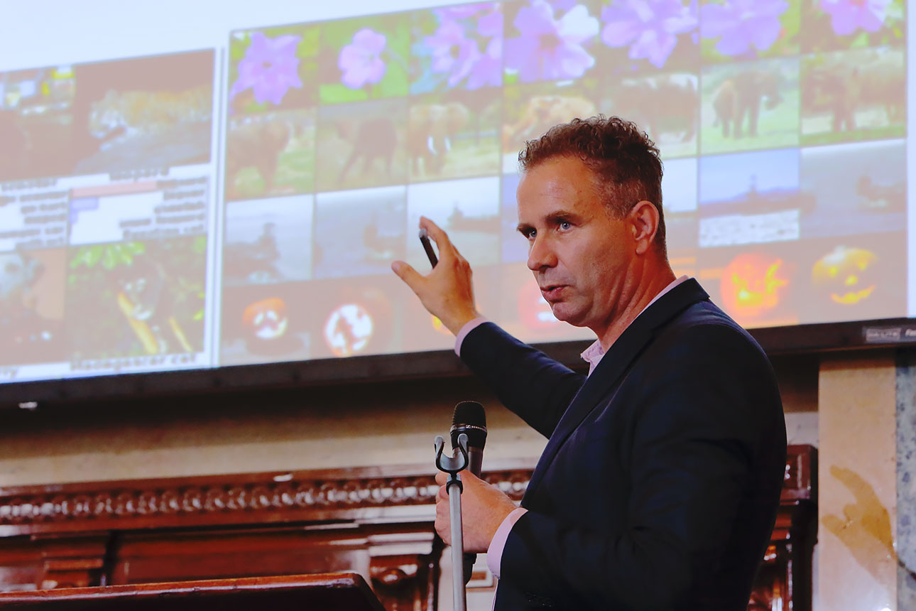 fotos van congres in Rotterdam