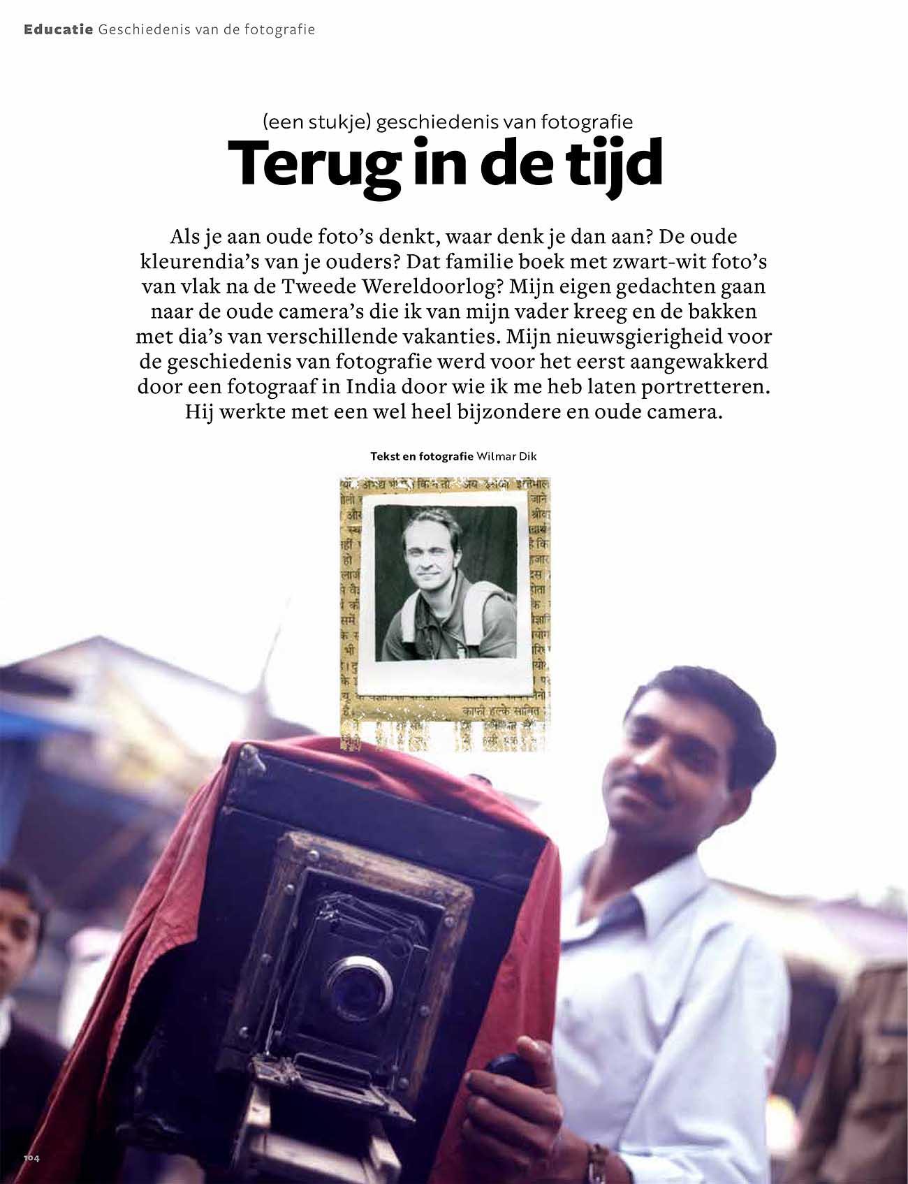 een stukje geschiedenis van fotografie