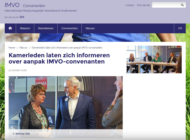 IMVO convenanten, werkbezoek SER, fotografie Tweede Kamerleden
