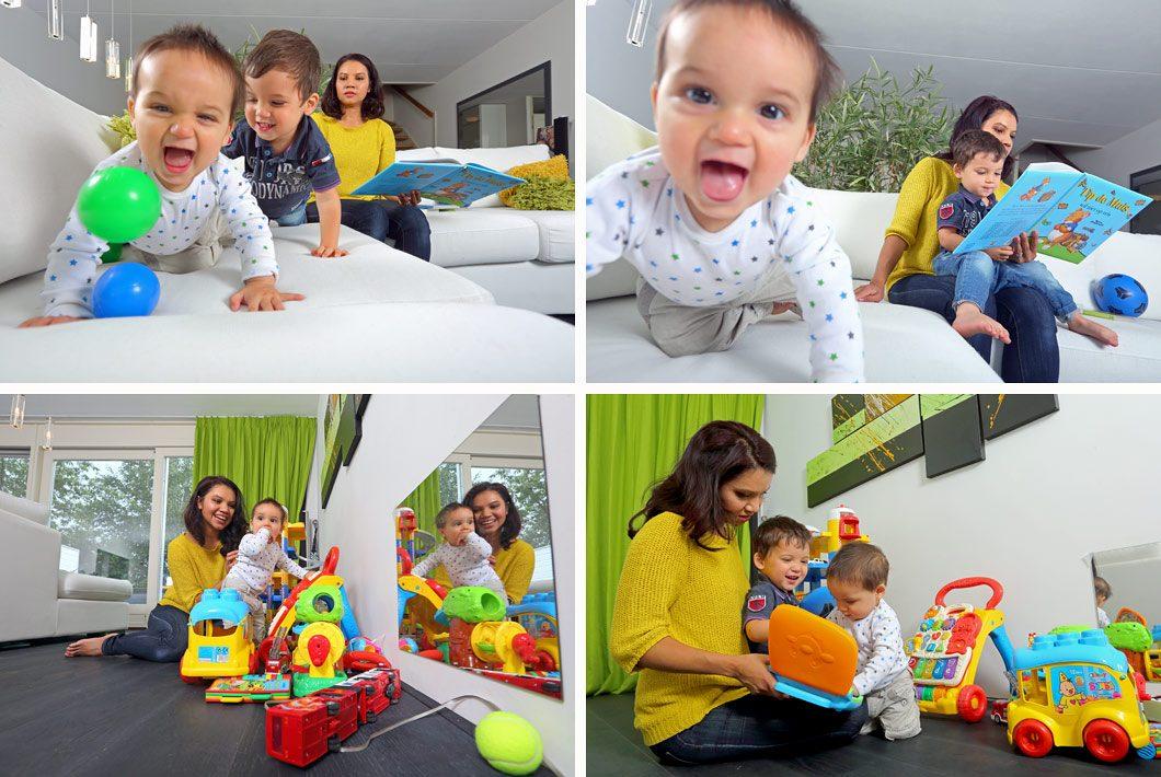 Kinderen binnenshuis fotografie
