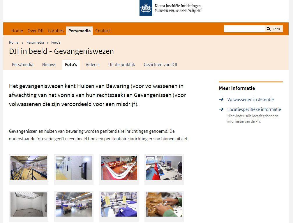 Interieurfotografie voor de Dienst Justitiële Inrichtingen, het ministerie van Justitie en Veiligheid