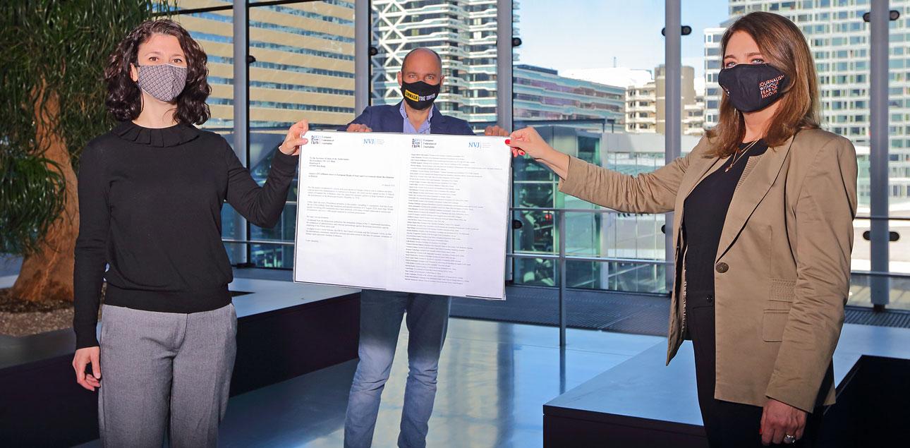 persfoto in Den Haag, ministerie van Buitenlandse Zaken
