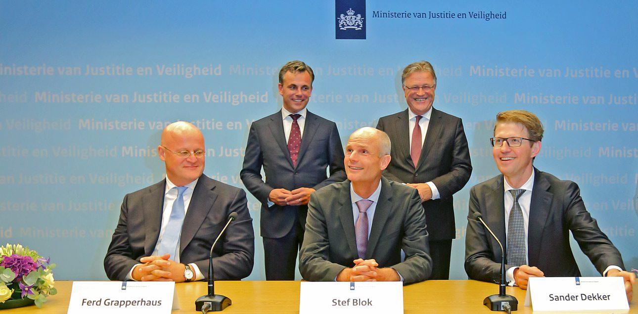 Persfotografie, Den Haag. Ministerie van JenV
