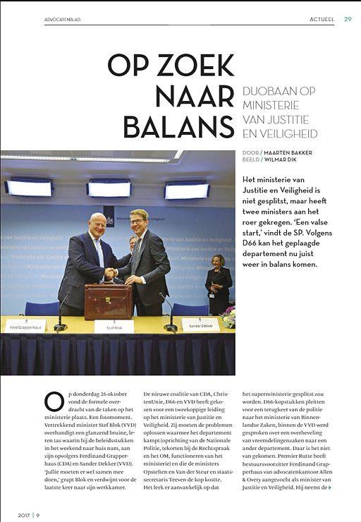 fotografie vakblad Advocatenblad magazine