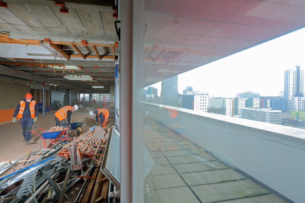 Bouw fotografie sloop project Rotterdam