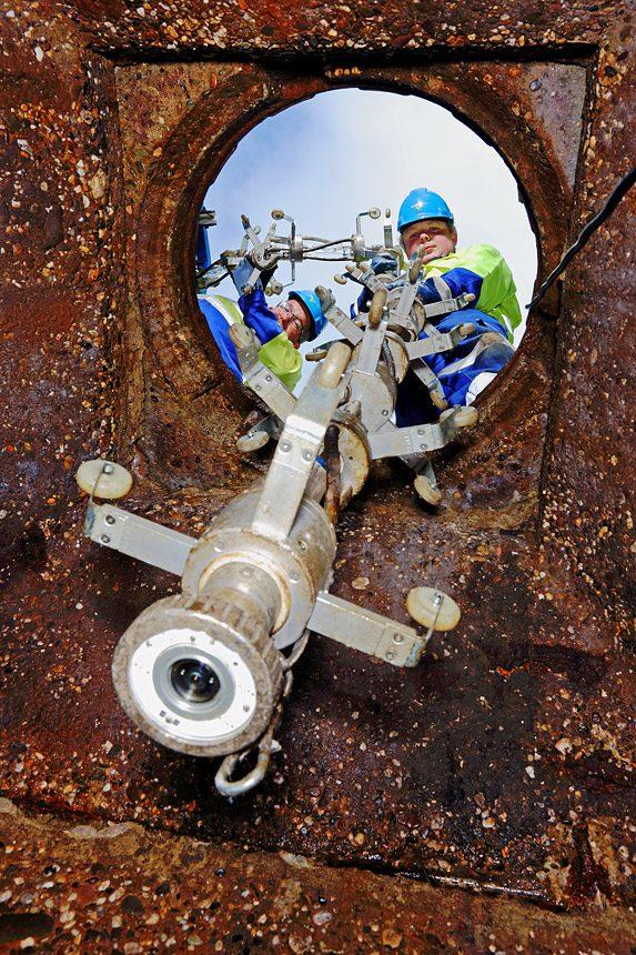 Arbeidsmarktcommunicatie fotografie tijdens rioolrenovatie project