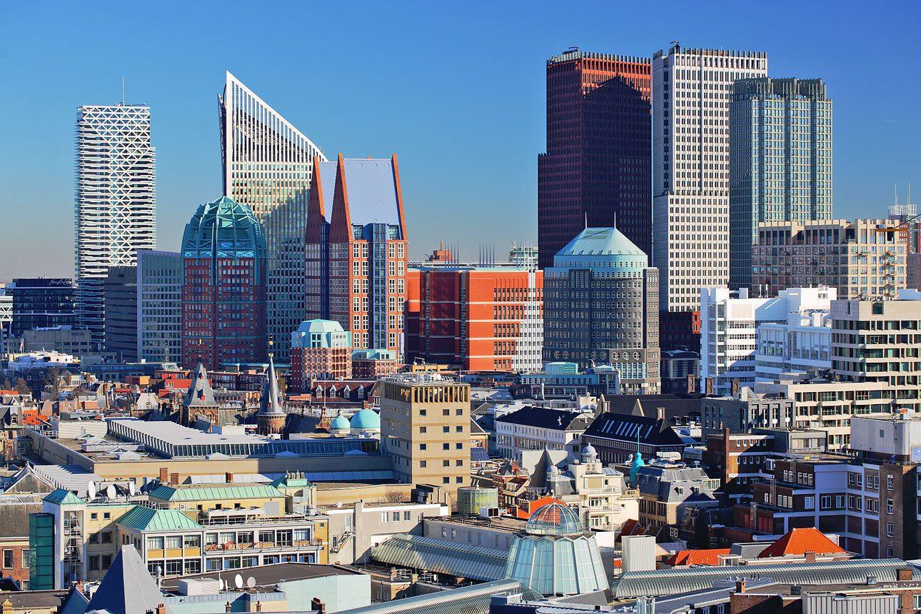 Foto van de skyline van Den Haag