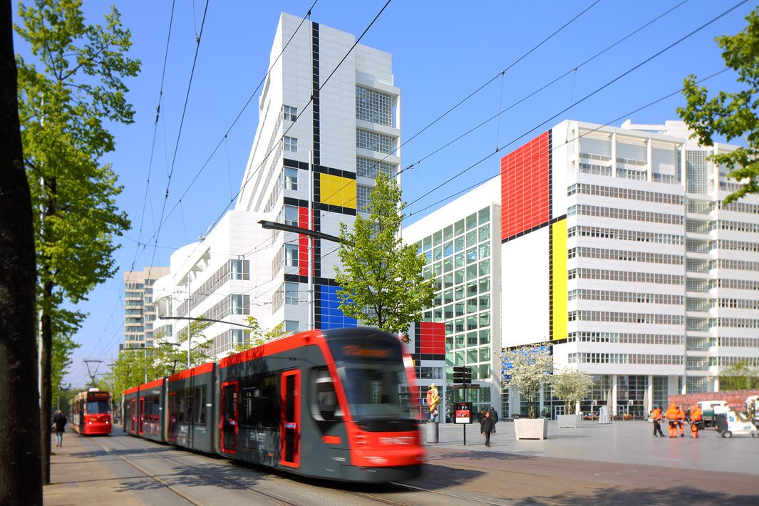 tram transport fotografie Den Haag
