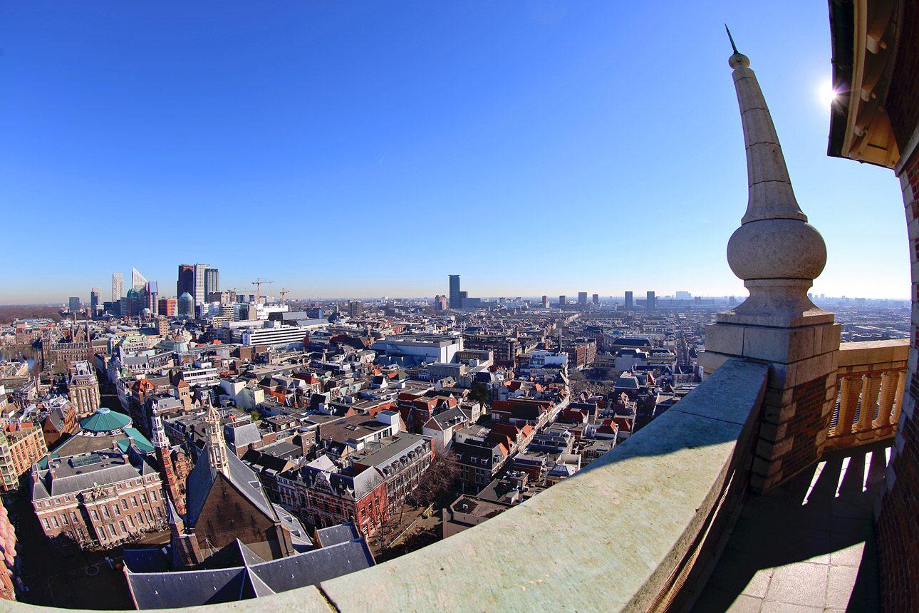 Fotoreportage uitzicht grote Kerk Den Haag