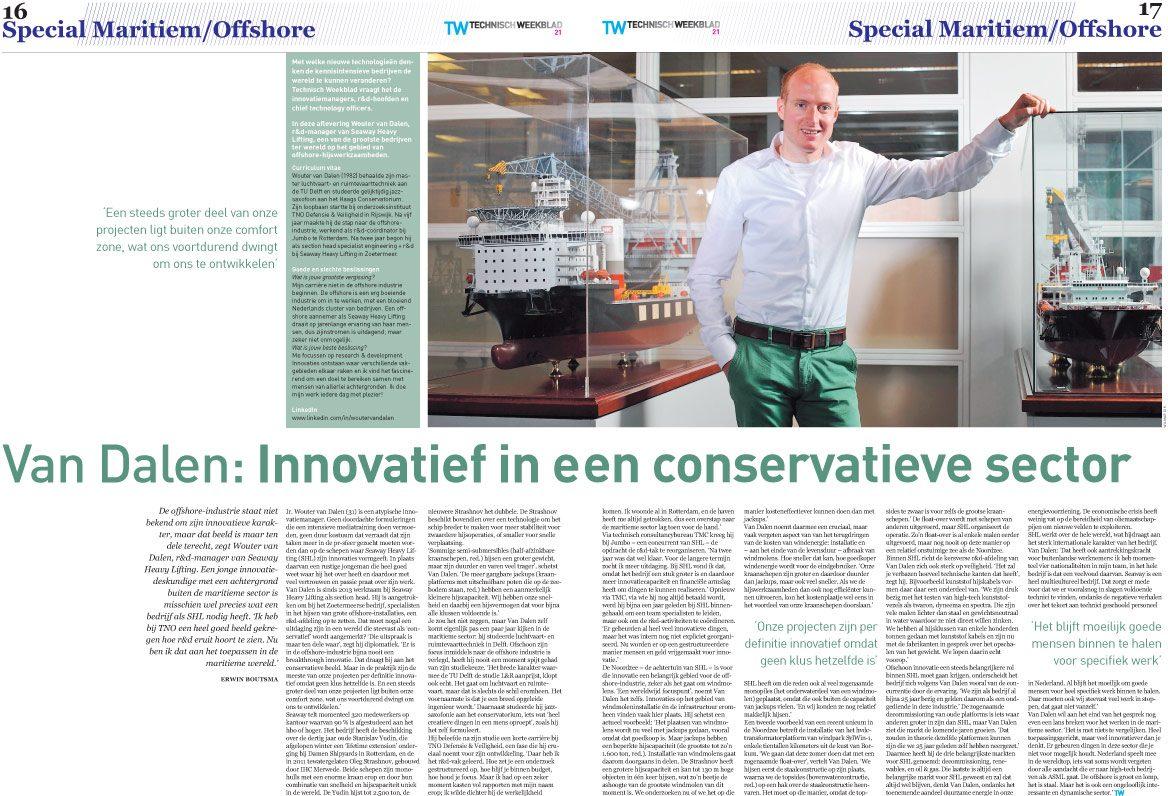 Fotografie voor Vakblad Technisch weekblad