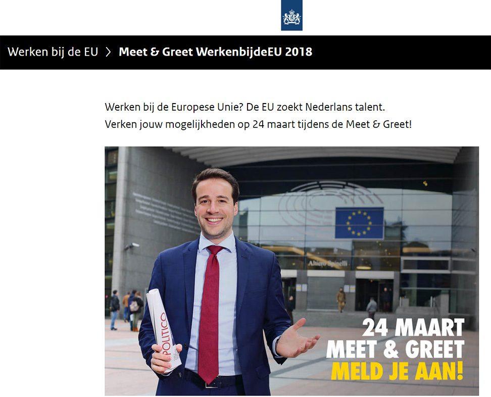 Fotografie werken bij de EU, fotografie voor personeelswerving
