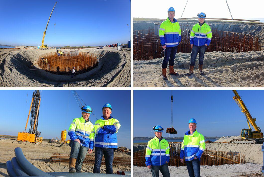 Bouw fotografie windmolen project
