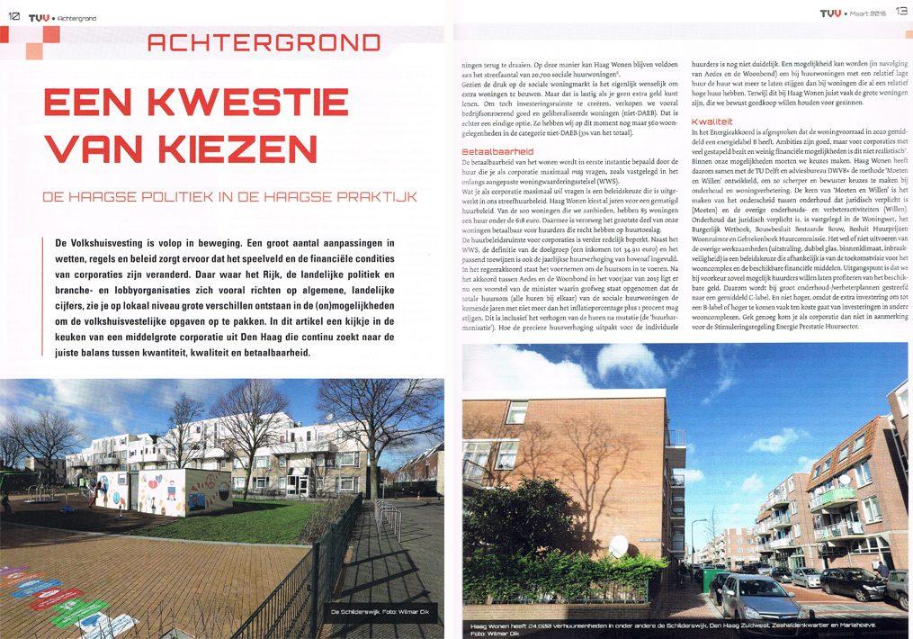 fotografie voor magazine over volkshuisvesting